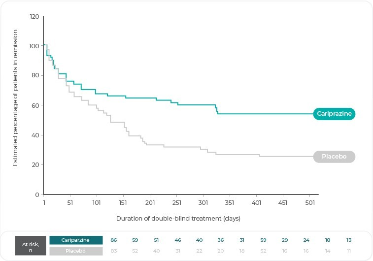 Estimated percentage of patients in remission